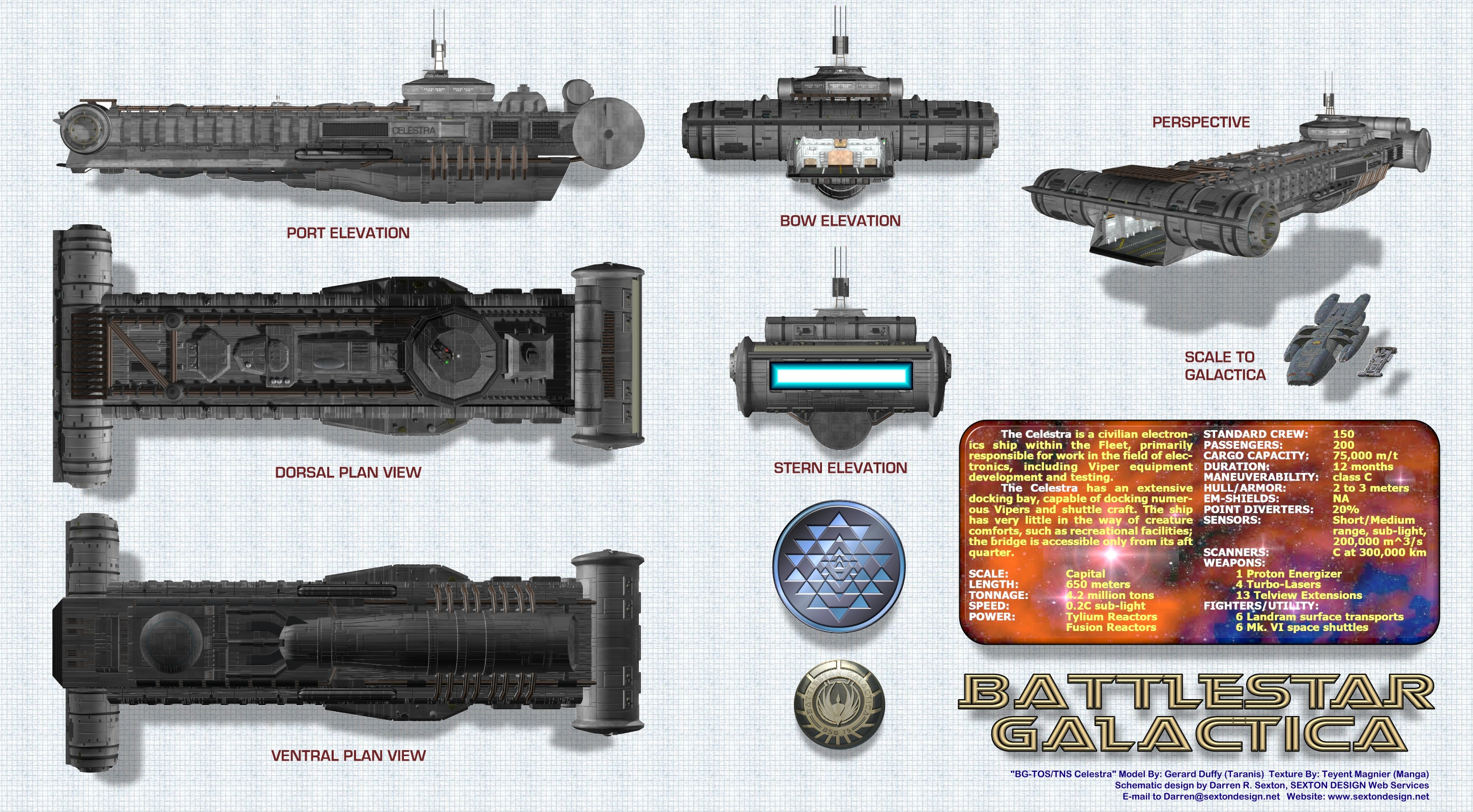 Starship Schematic Database - All Colonial Vessels on