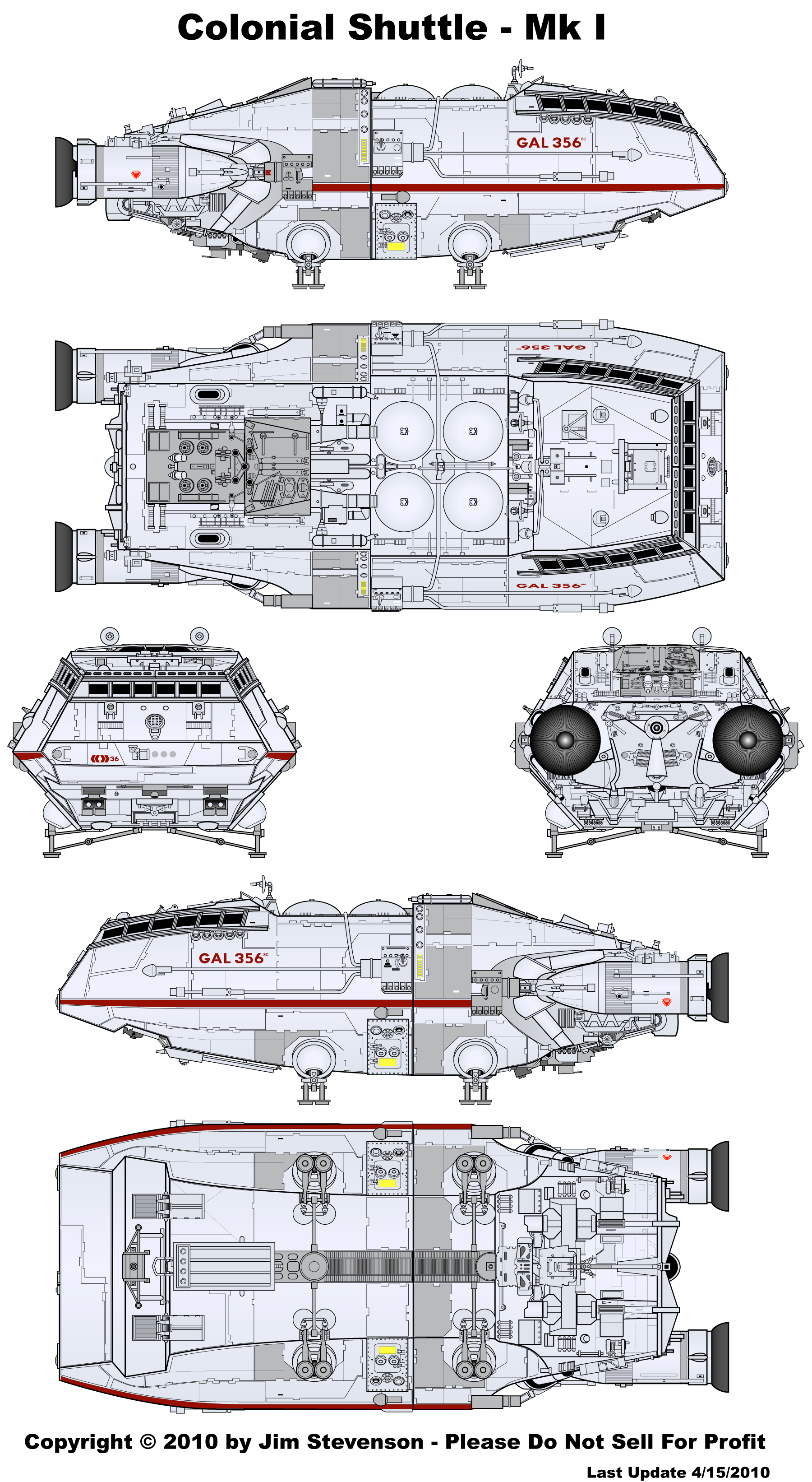 Starship Schematic Database - Official Designs