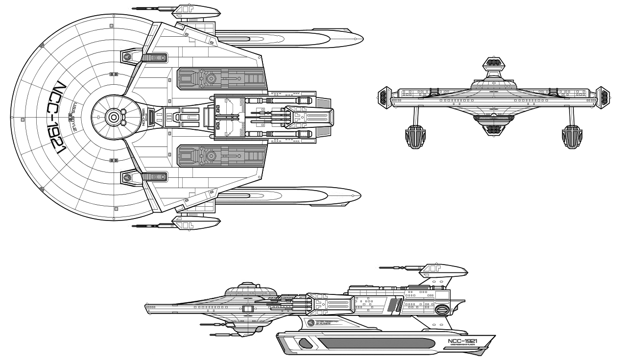 Starship Schematic Database Ufp And Starfleet Frigates Star Trek Engineering Schematics Attack Frigate Soyuz
