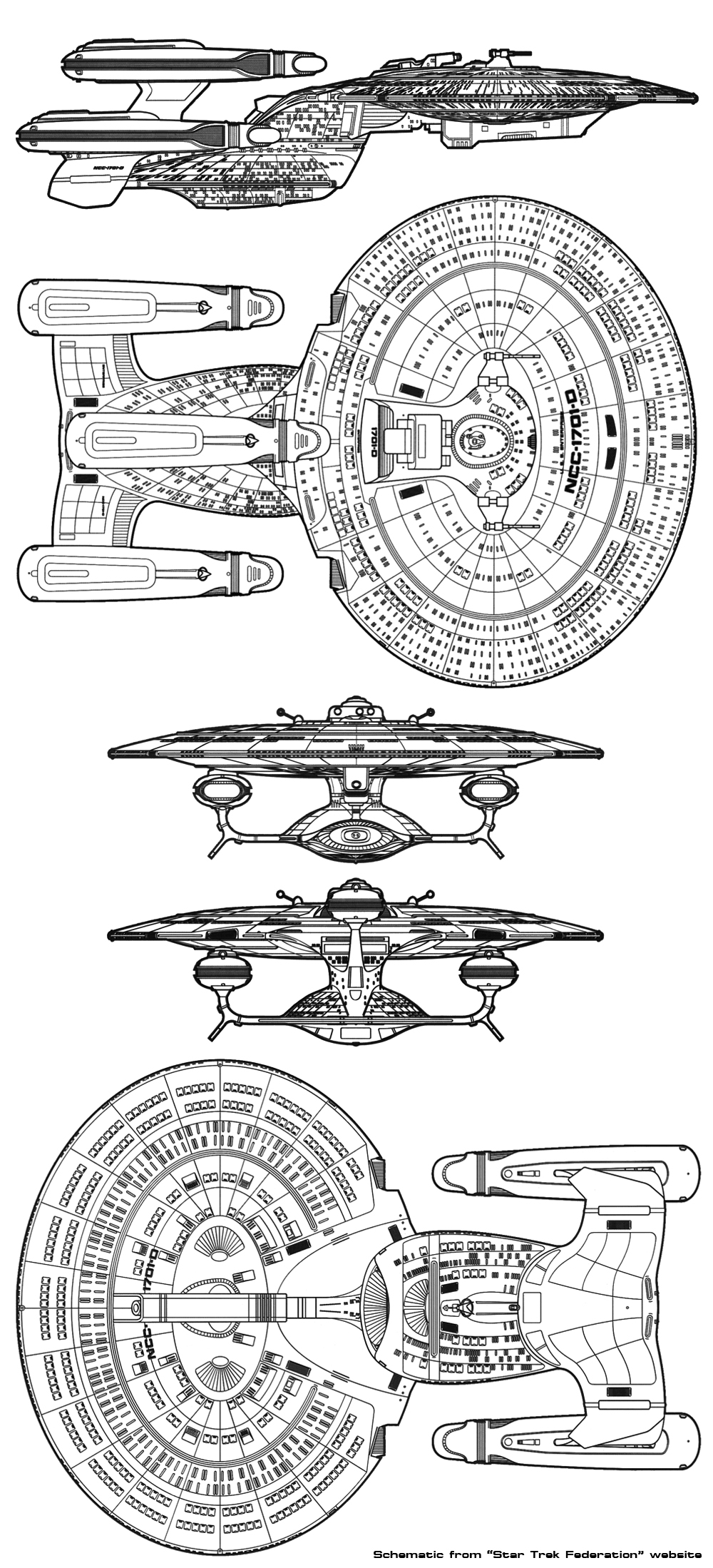 recycling starship models