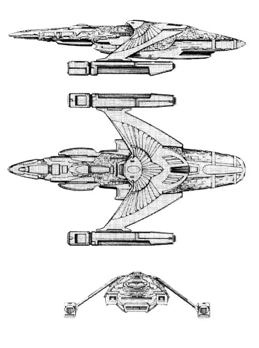 what do romulan ships of tos movie era look like